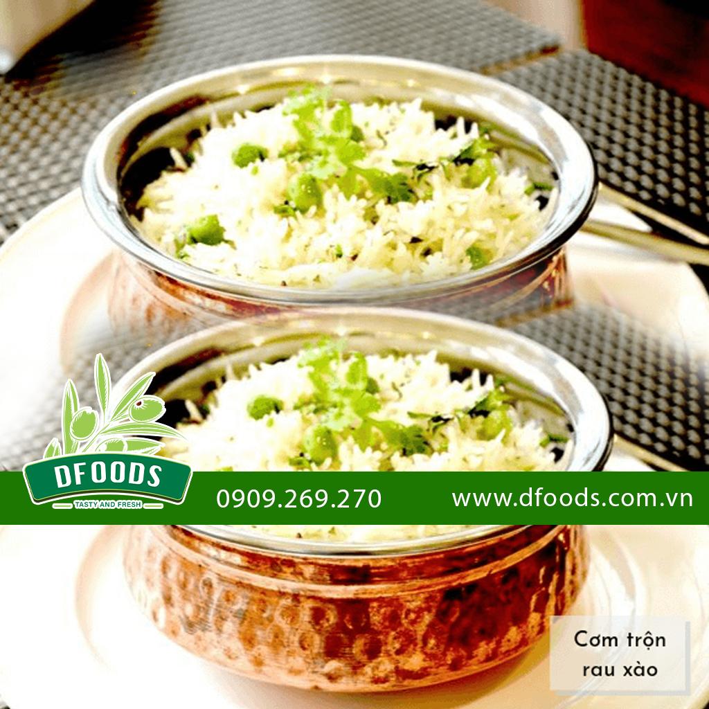 Cơm trộn rau xào - từ gạo ấn độ