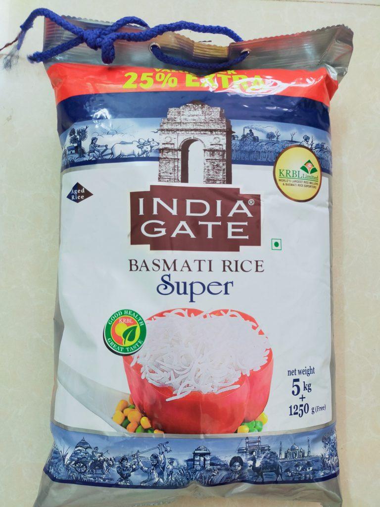 Gạo Ấn Độ Basmati Rice India Gate Super