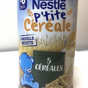Bột lắc sữa em bé Nestlé P'tite Céréale Vị Ngũ Cốc